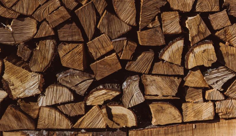 dřevo, polínka, krb